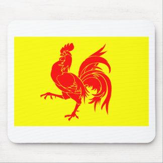 Walloon (Belgium) Flag - Drapeau de la Wallonie Mouse Pad
