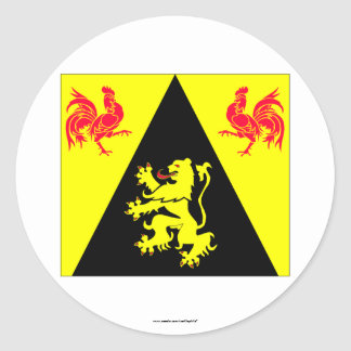 Walloon Brabant Flag Stickers