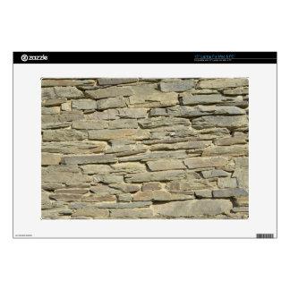 "Walloon style of stonework skin for 15"" laptop"