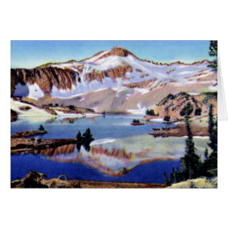 Wallowa Oregon Eagle Cap and Glacier Lake Wallowa Card