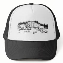 wallowing trucker hat