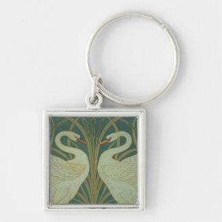 "Wallpaper Design for panel of ""Swan, Rush & Iris"" Key Chains"