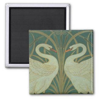 """Wallpaper Design for panel of """"Swan, Rush & Iris"""" Magnet"""