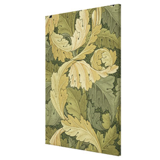 Wallpaper Design with Acanthus/Woodland colours, 1 Canvas Print