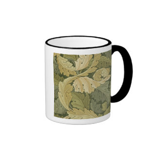 Wallpaper Design with Acanthus/Woodland colours, 1 Ringer Coffee Mug