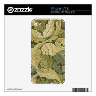 Wallpaper Design with Acanthus/Woodland colours, 1 Skin For The iPhone 4