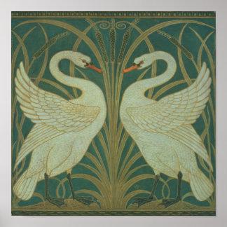 """Wallpaper el diseño para el panel del """"cisne, acom póster"""