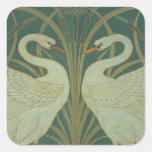 "Wallpaper el diseño para el panel del ""cisne, pegatina cuadrada"