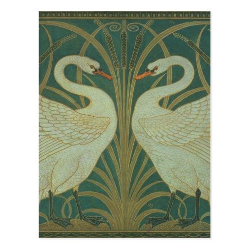 "Wallpaper el diseño para el panel del ""cisne, tarjetas postales"