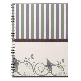 Wallpaper Floral Design Notebook