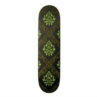 Wallpaper Floral Green Skateboard