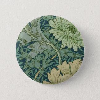 Wallpaper Pattern Sample with Chrysanthemum Button