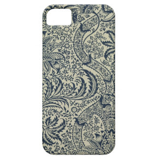 Wallpaper with navy blue seaweed style design iPhone SE/5/5s case