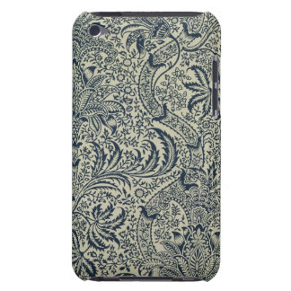 Wallpaper with navy blue seaweed style design iPod touch Case-Mate case