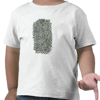 Wallpaper with navy blue seaweed style design tshirt