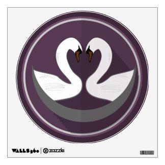 Walls 360 Custom Wall Decal LOVE SWANS