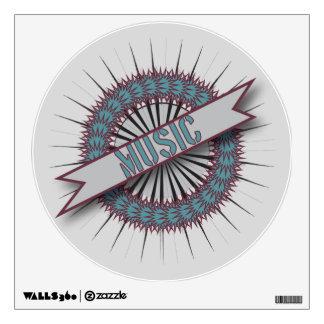 Walls 360 Custom Wall Decal MUSIC CIRCLE LOGO