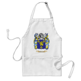 Walls Family Crest Coat of Arms Aprons