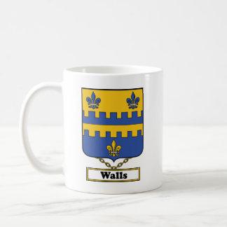 Walls Family Crest Coffee Mug