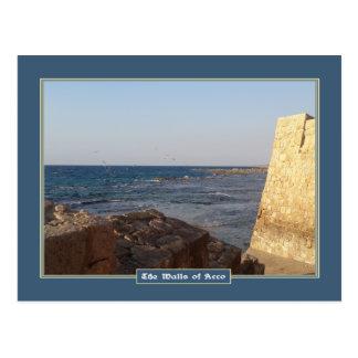Walls of Acco Postcard