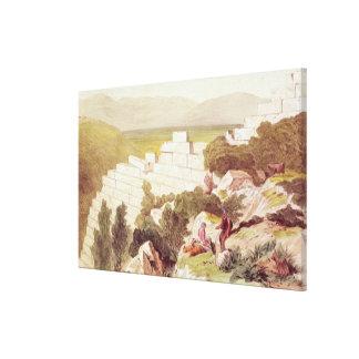 Walls of Ancient Samos, Cephalonia, 19th century Gallery Wrap Canvas