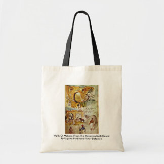 Walls Of Meknes (From The Moroccan Sketchbook) Tote Bag
