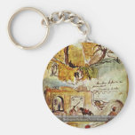 Walls Of Meknes (From The Moroccan Sketchbook) Keychains