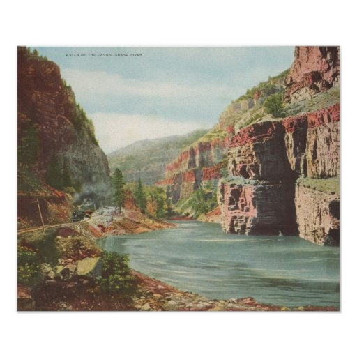 Walls of the Canon, Grand River (Canyon) Poster
