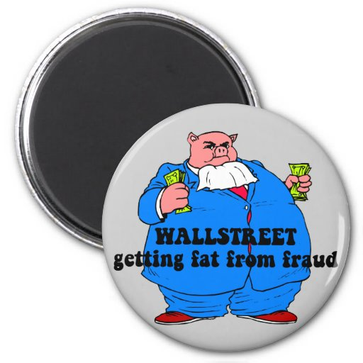 Wallstreet divertido imán redondo 5 cm