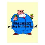 Wallstreet divertido postal