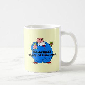 Wallstreet divertido tazas de café