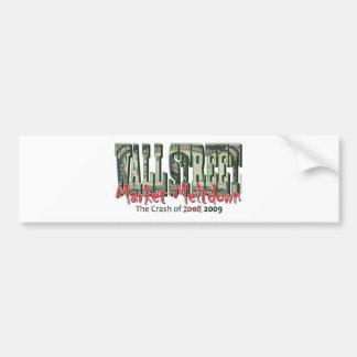 WallStreet Market Meltdown Bumper Sticker