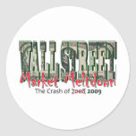 WallStreet Market Meltdown Stickers
