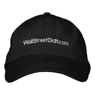 WallStreetDidIt.com Embroidered Baseball Cap
