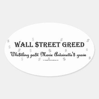 WallStreetGreedMarie Oval Sticker