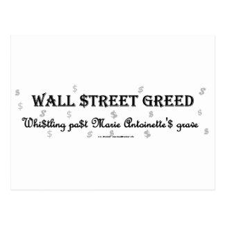 WallStreetGreedMarie Tarjetas Postales