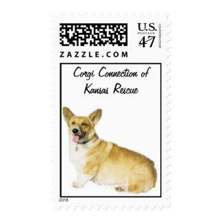Wally - Corgi Connection of Kansas Rescue Postage Stamp