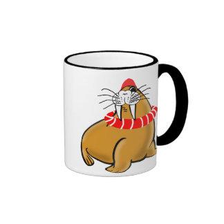 Wally la morsa va a nadar taza de dos colores