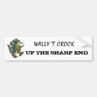 Wally T Crock Bumper Sticker