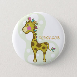 Wally the Giraffe Character Button