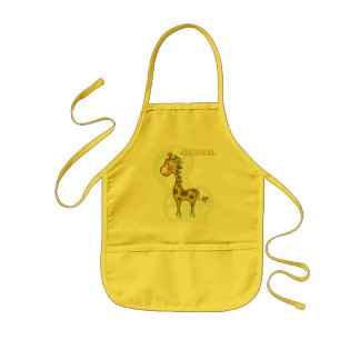 Wally the Giraffe Character Kids' Apron