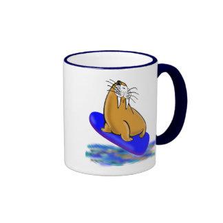 Wally The Walrus Goes Surfing Coffee Mug