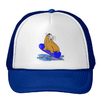Wally The Walrus Goes Surfing Hats