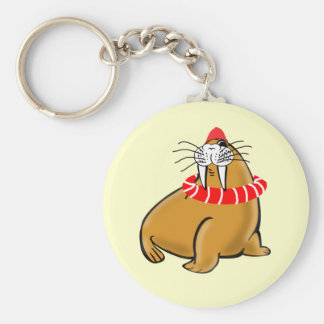 Wally The Walrus Goes Swimming Keychain