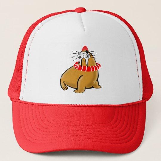 Wally The Walrus Goes Swimming Trucker Hat