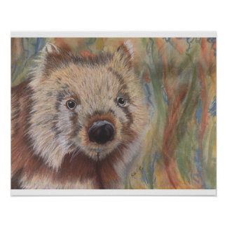 Wally Wombat Poster