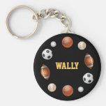 Wally World of Sports Keychain - Black