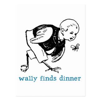 Wally's Dinner Postcard
