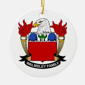 Walmsley Family Crest Ceramic Ornament