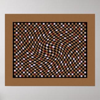 Walnut 1200 Pieces of pi Print